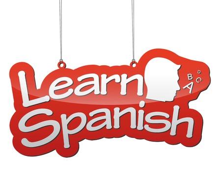 이것은 배경 학습 스페인어입니다 일러스트