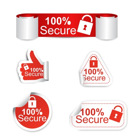 This is set of stickers - secure