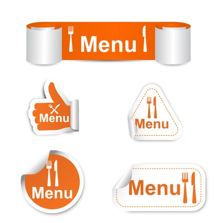 This is set of stickers - menu