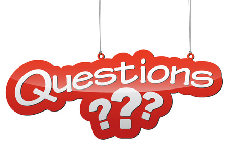 question marks: This is red vector illustration - background tag questions