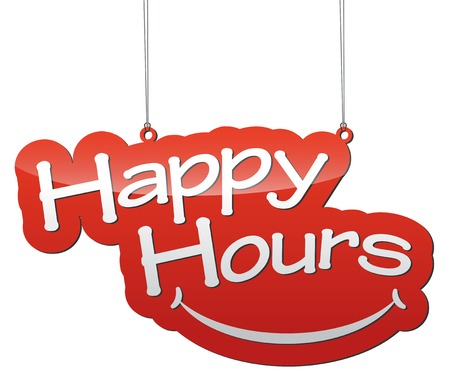happy hour: this is red vector illustration - background tag happy hours