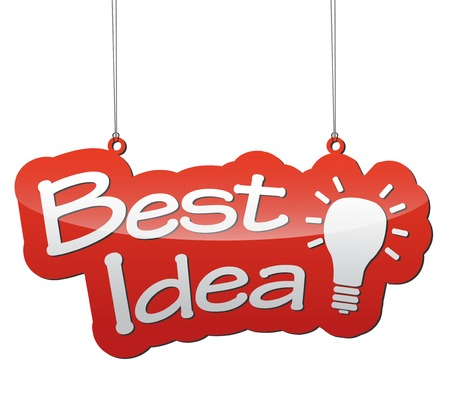 best idea: This is red vector illustration - background tag best idea Illustration