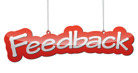 feedback: This is red vector background feedback Illustration