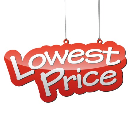 lowest: This is red vector illustration background lowest price