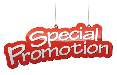 This is red vector illustration background special promotion Vectores