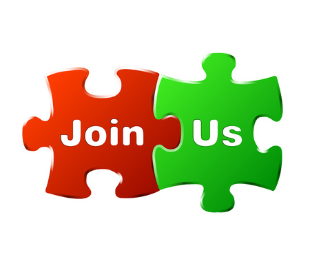 join: This is vector puzzle sign join us Illustration