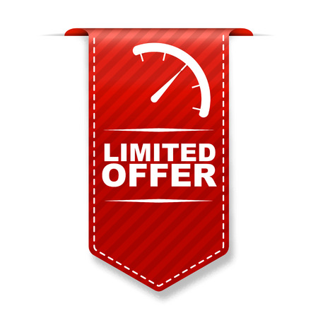This is red banner design limited offer Stock Vector - 48543846