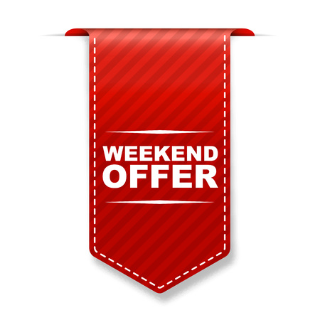 limited access: This is red banner design weekend offer