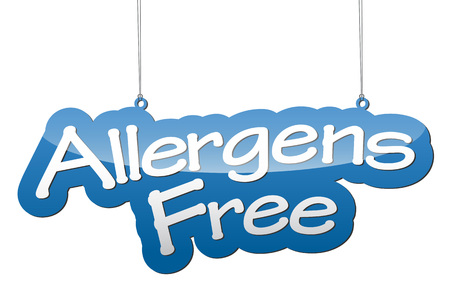 allergens: This is blue background allergens free Illustration