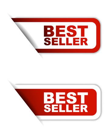 seller: This is red vector paper element sticker best seller in two variant