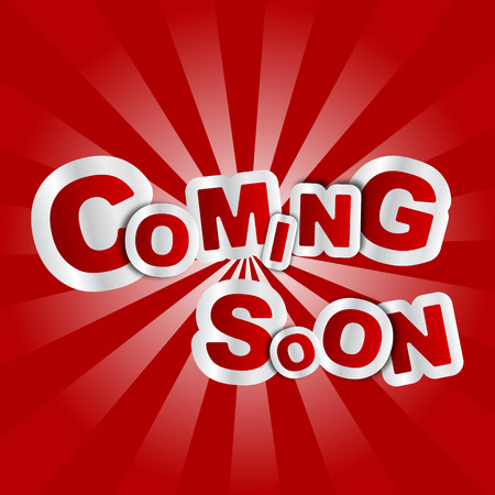 brand new: This is red vector background coming soon
