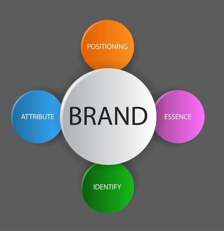 brand position: This is vector diagram schema brand
