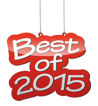 best: This is red vector background best of 2015 Illustration