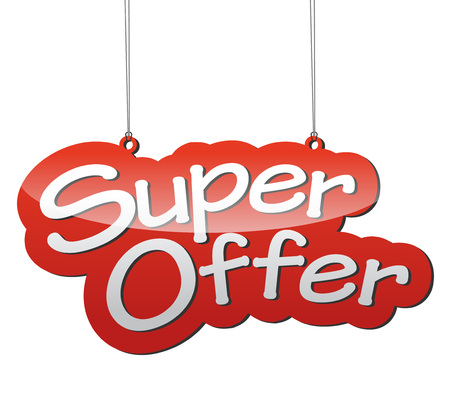 offer icon: This is red vector background super offer