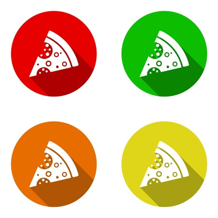This is set pizza icons in four variant