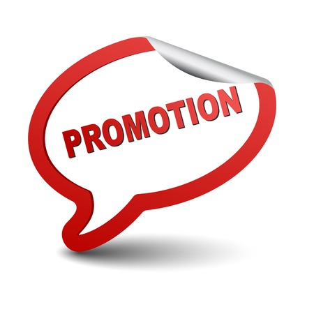 This is red vector element bubble promotion