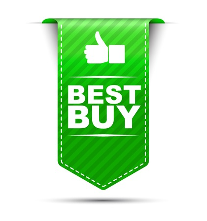 best quality: This is green vector banner design best buy