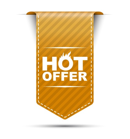price: This is orange vector banner design hot offer
