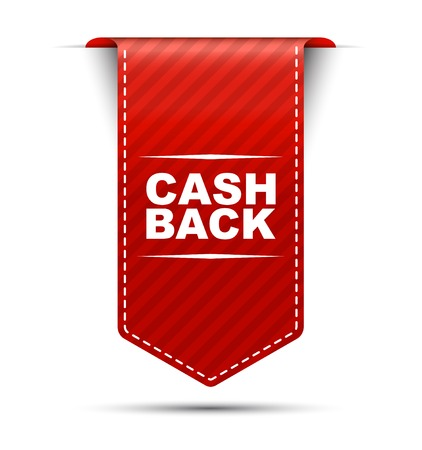 white back: This is red vector banner design cash back