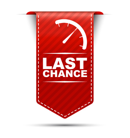 This is red vector banner design last chance Illustration