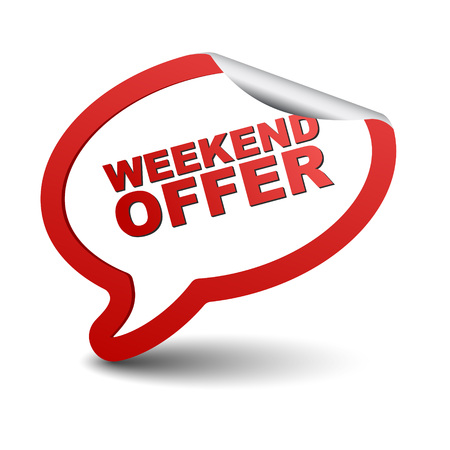 limited access: This is red vector element bubble weekend offer Illustration