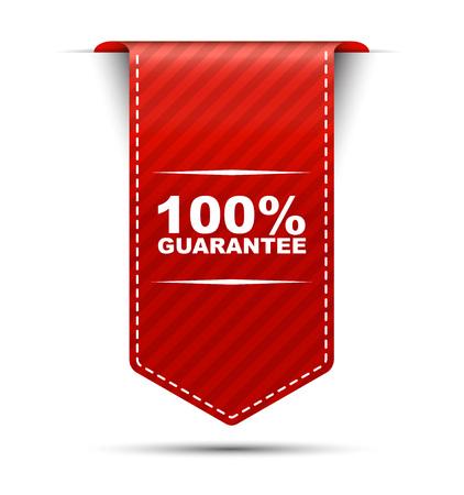 Dit is rood vector banner ontwerp 100 garantie Vector Illustratie
