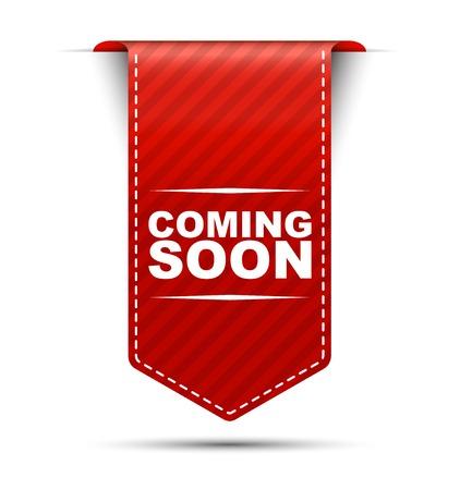 Dies wird rot Vektor kommenden Banner-Design bald Standard-Bild - 52963685