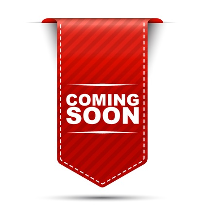 This is red vector banner design coming soon Illustration