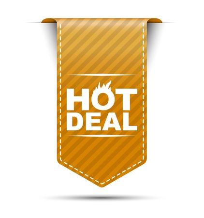 This is orange vector banner design hot deal Illustration
