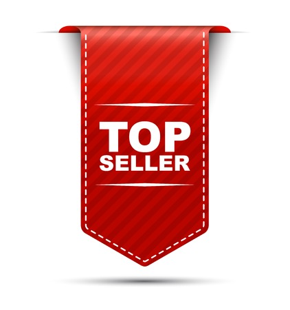 top seller: This is red vector banner design top seller