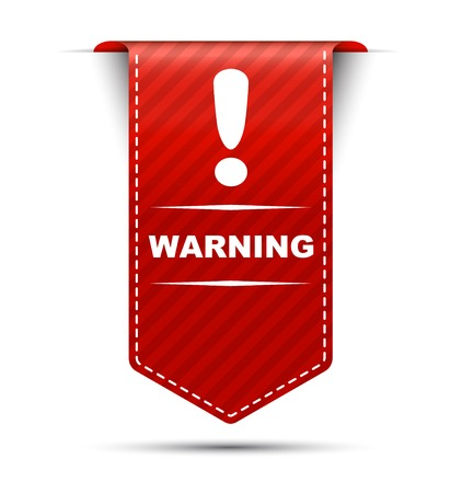 This is red vector banner design warning