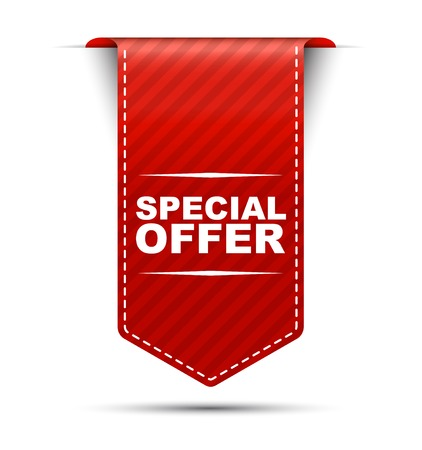 This is red vector banner design special offer Vectores