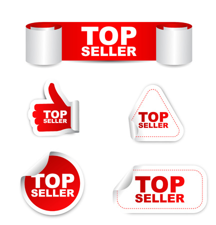 top seller: This is red set vector paper stickers top seller