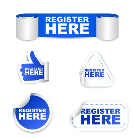 subscribe here: This is blue set vector paper stickers register here