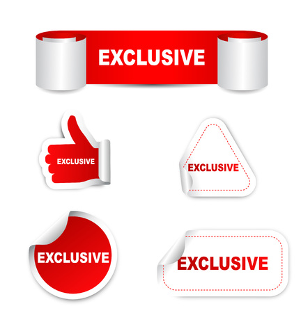 special edition: This is red set vector paper stickers exclusive Illustration