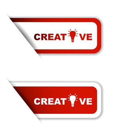 This is red set vector paper stickers creative