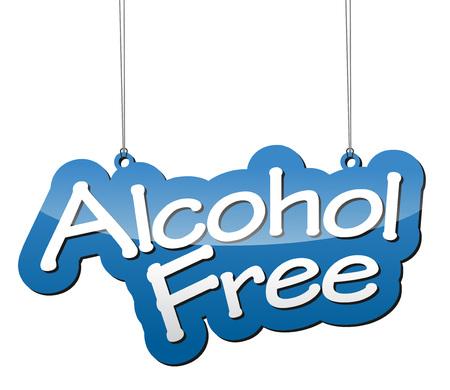 Dit is blauw vector achtergrond alcohol vrij Stock Illustratie