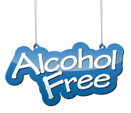 safely: This is blue vector background alcohol free Illustration