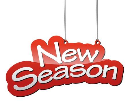 estaciones del año: Este es el fondo del vector rojo nueva temporada