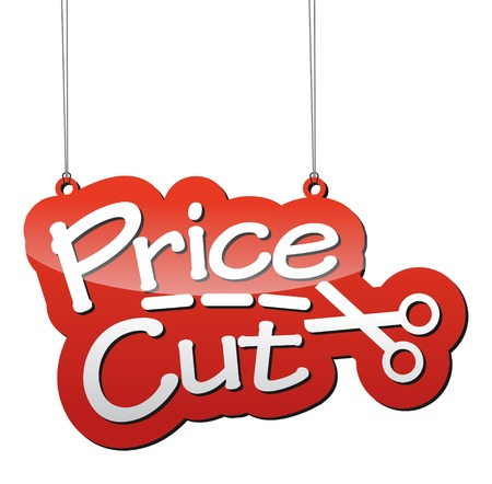 This is red vector background price cut Illustration
