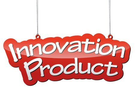 product innovation: This is red vector background innovation product