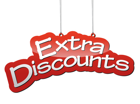 extra: This is red vector background extra discounts