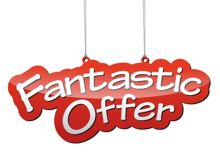 offer: This is red vector background fantastic offer