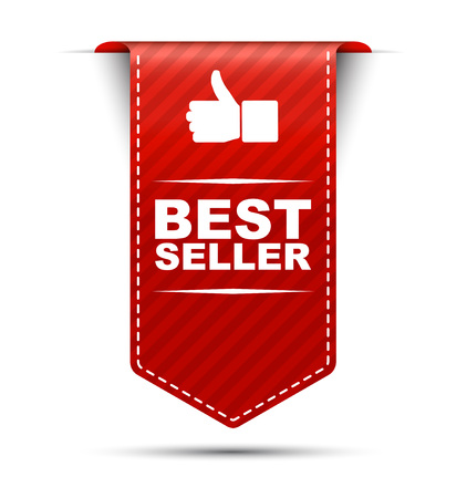 This is red vector banner design best seller