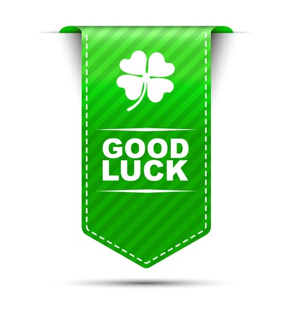 cloverleaf: This is green vector design banner good luck
