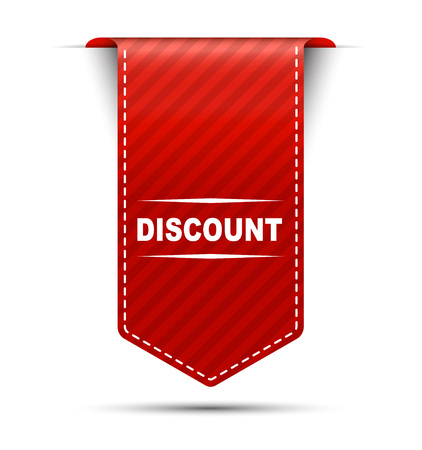 discount banner: This is red vector banner design discount Illustration