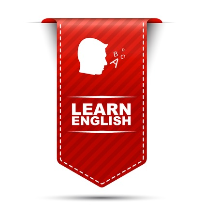 learn: This is red vector banner design learn english