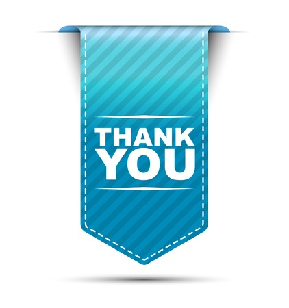 thank you cards: This is blue vector banner design thank you Illustration
