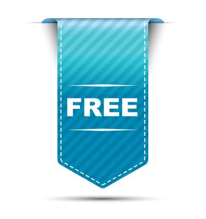 Dit is blauw vector banner ontwerp gratis Stock Illustratie