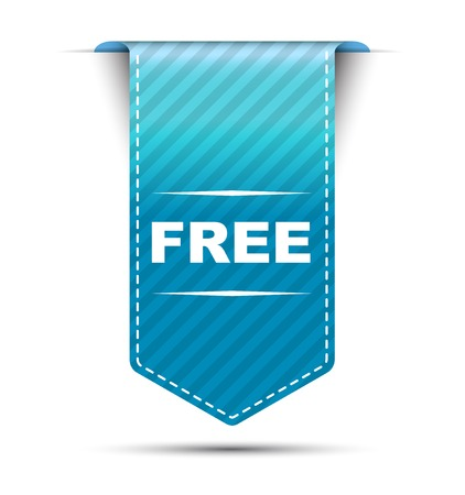 This is blue vector banner design free